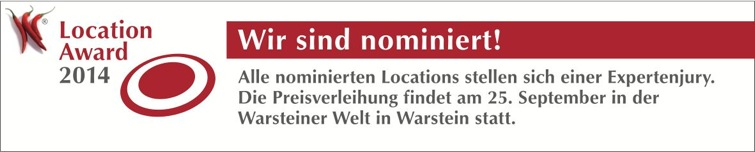 Nominierung zum Location-Award