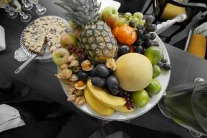 Obst und Kuchen in der Arminius-Markthalle
