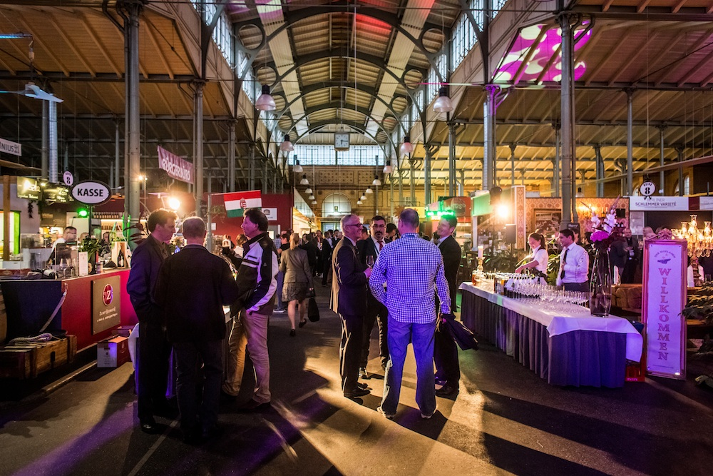 PCI-Welcome Reception in der Arminius-Markthalle