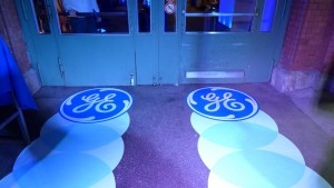 GE Floor Sticker, Event Markthalle