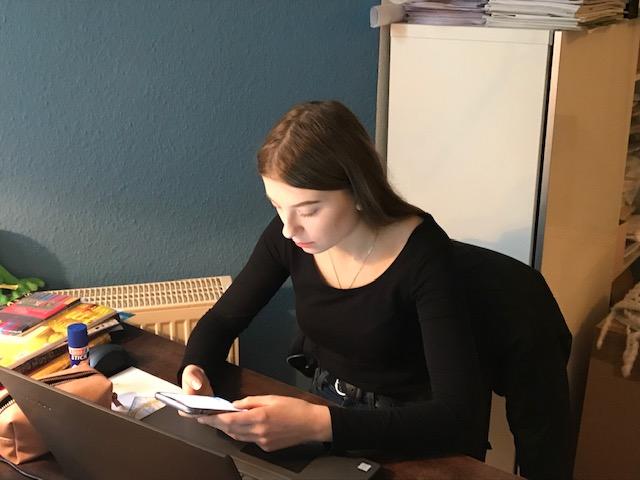 Sophia unsere Schülerpraktikantin